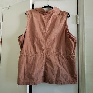 Old Navy Jackets & Coats - Camel Tan Sleeveless Utility Vest (Size XXL)